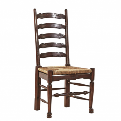 English Country Ladderback Side Chair