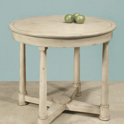 Wood Top French Circular Table