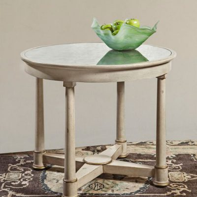 Mirrored-Top French Circular Table