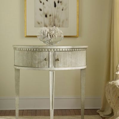 Gustavian Half Round Table