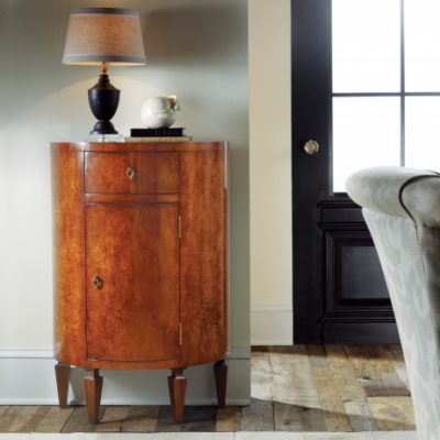 Italian Bedside Half-Round Cabinet