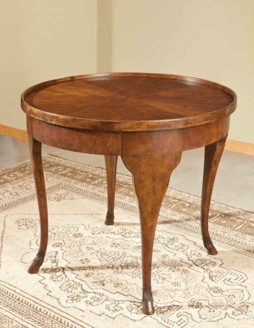 Italian Circular Table in Cherry - Staged