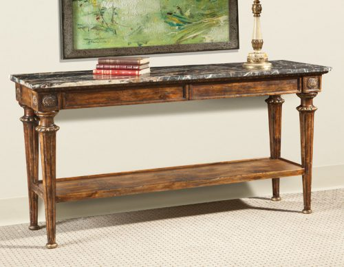 Marble-Top Italian Console