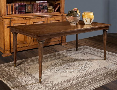 Italian Dining Table in French Walnut - Staged