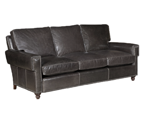 Leather Key-Arm Sofa