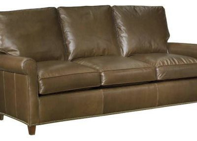 Leather Nail-Bottom Sofa
