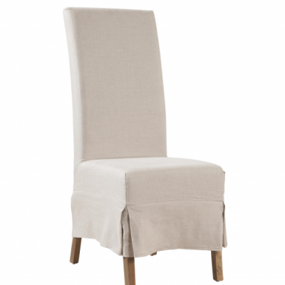 Linen Slip Covered Parsons Chair