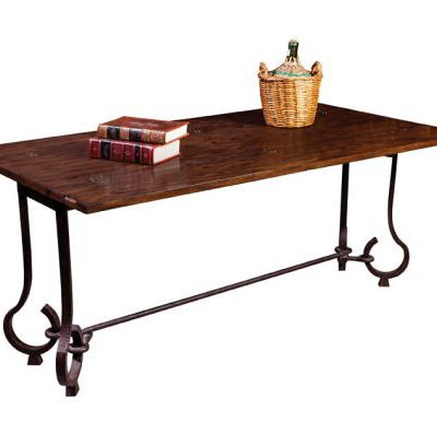 Oak and Iron Table