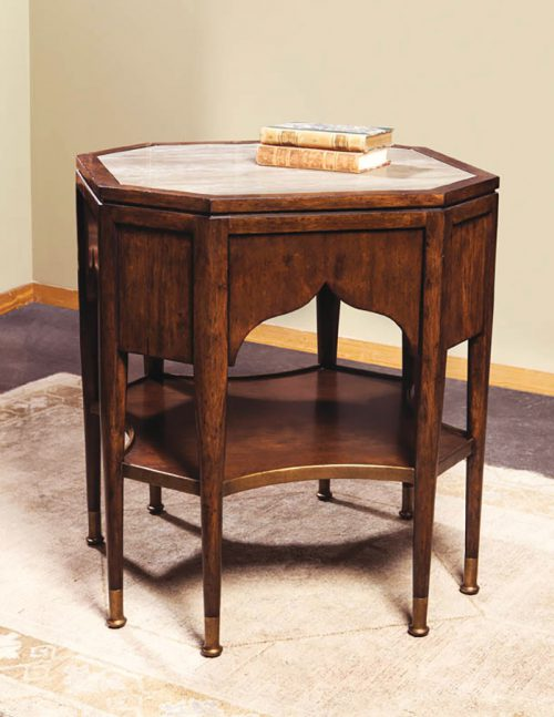 Octagonal Austrian Side Table - Staged