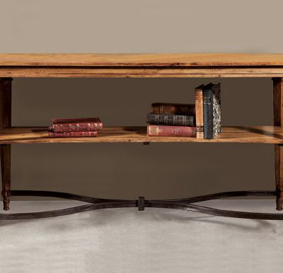 Olde Pine and Iron Stretcher Console