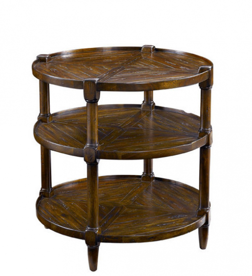Round Tier End table with 3 shelves
