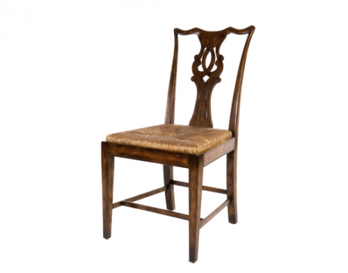 Rustic Rush-Seat Side Chair
