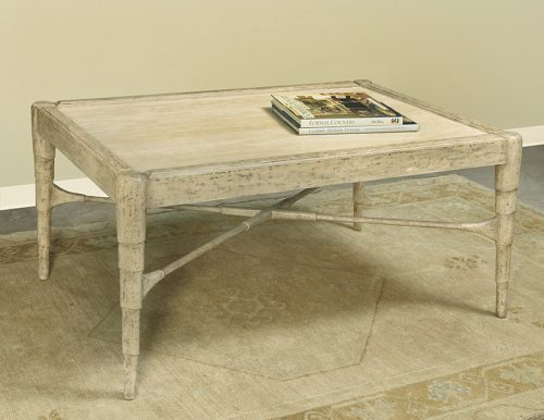 Stone Top Cocktail Table with Cafe Finish