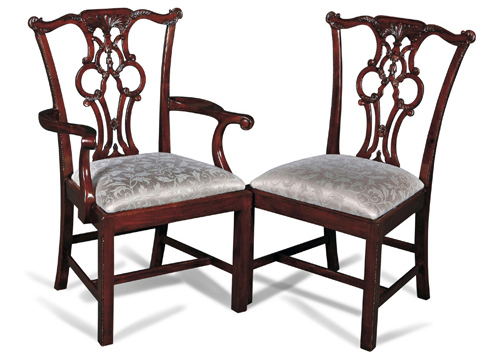 Tri-Circle Side Chair and Arm Chair