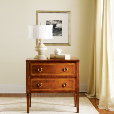 Two-Drawer Fruitwood Commode