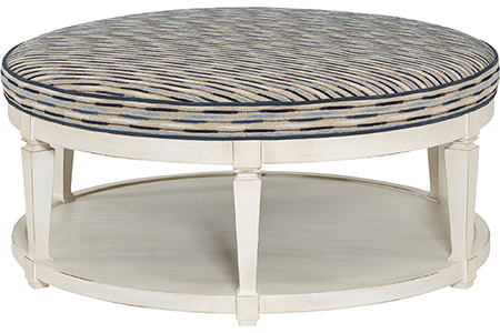 Carrie Table Ottoman - White