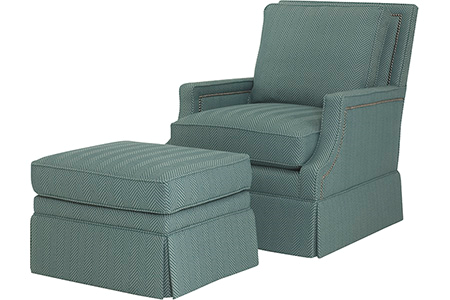 Cecily Chair and Ottoman