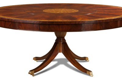 Crotch Mahog Round Dining Table