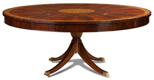 Crotch Mahog Round Dining Table