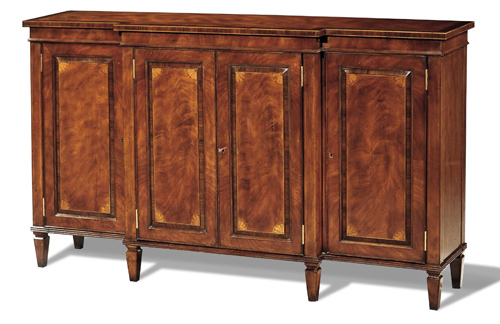 Crotch Mahogany and Rosewood Sideboard