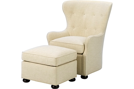 Eliot Chair and Ottoman