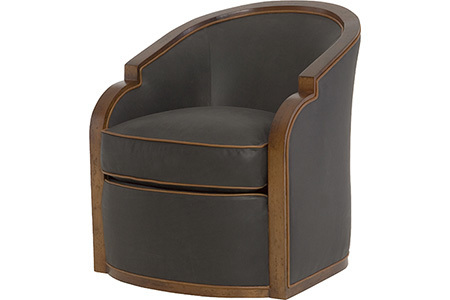 Gracious Swivel Chair - Leather