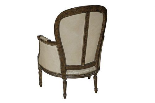Leather and Wood Chair - Back View
