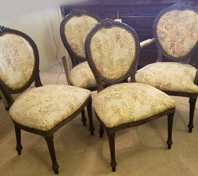 Antique French Dining Chair Set of 12