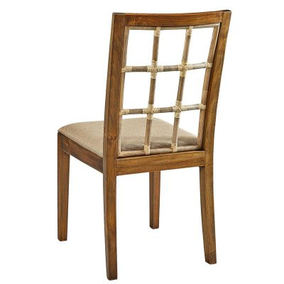 Bamboo Window Pane Side Chair
