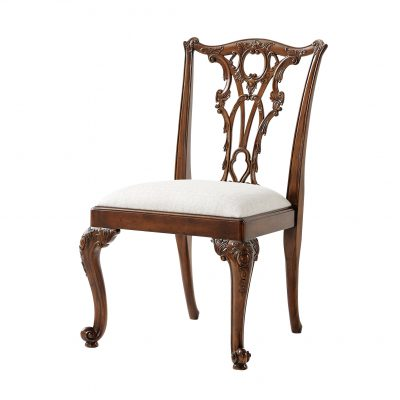 Seated in Rococo Splendour Side Chair