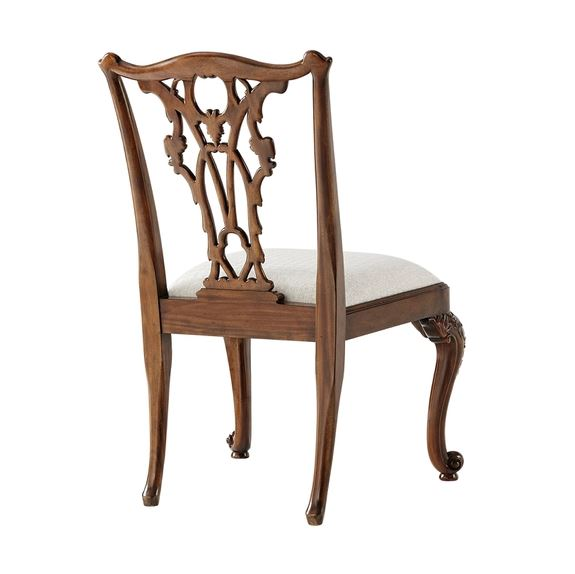 Seated in Rococo Side Chair - Back View