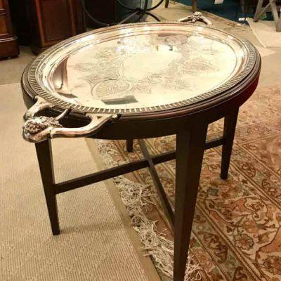 Vintage Silver Tray Table