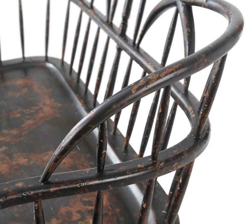 Rustic Hoop Back Settee - Detailed View