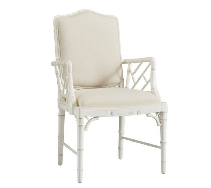 Upholstered Bamboo Arm Chair