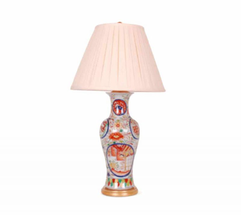 Multicolor Chinoiserie Porcelain Lamp