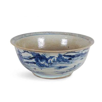Blue and White Canton Bowl