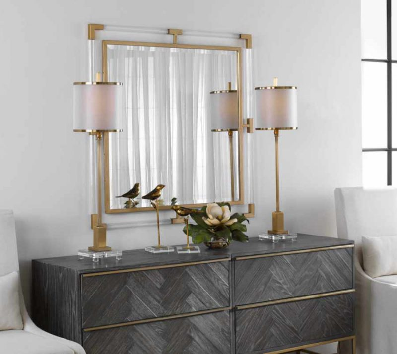 Balkan Square Mirror - Staged