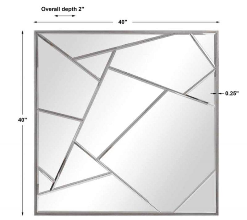 Beria Square Mirror - Dimensions