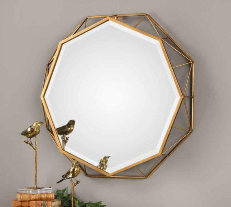 Mekhi Octagonal Mirror-staged side