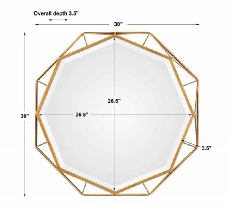 Mekhi Octagonal Mirror - Dimensions