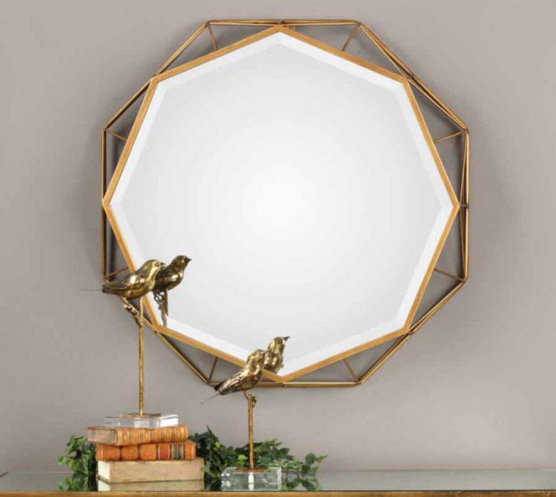 Mekhi Octagonal Mirror-staged