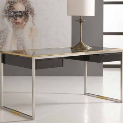 Stainless and Brass Desk